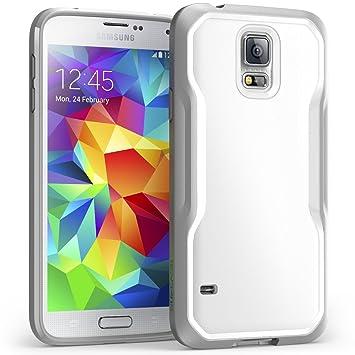 Supcase GALAXYS5-UB-WHGY Funda Gris, Blanco funda para teléfono móvil - Fundas para teléfonos móviles (Funda, Samsung, Galaxy S5, Gris, Blanco)