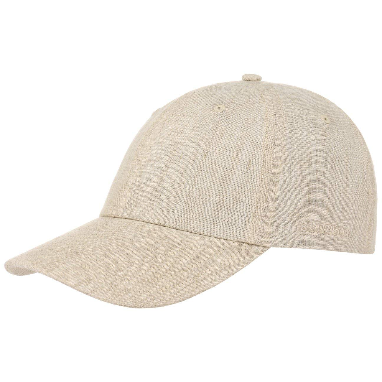 Stetson Sydell Linen Baseball Cap Women/Men/Kids Beige-Mottled L (7 1/4-7 3/8)