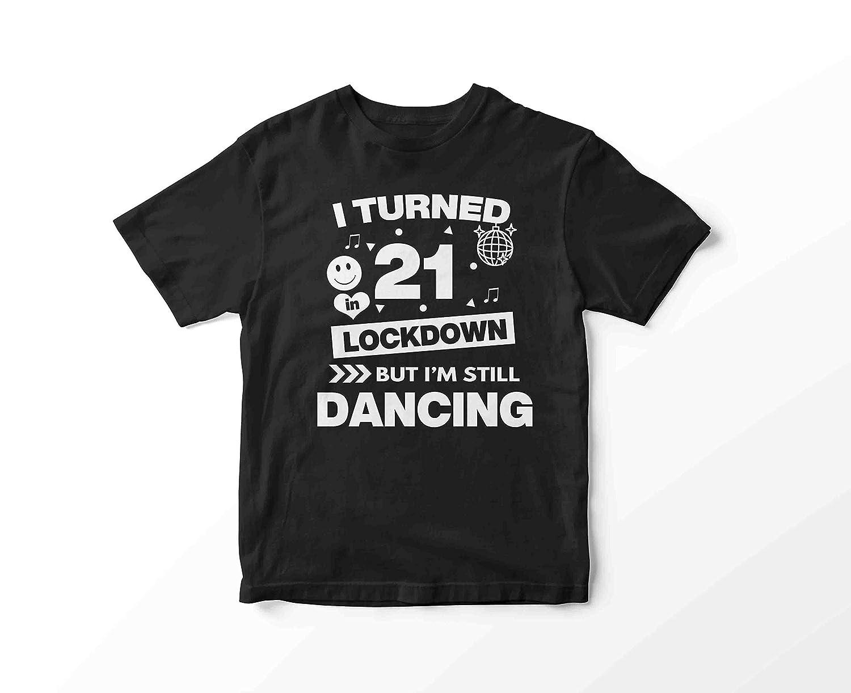 Any Birthday Milestone Personalised Lockdown birthday Party Animal Black T shirt