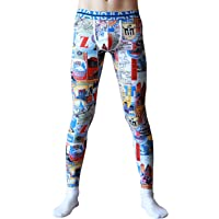 ARCITON Men's Low Rise Leggings Long Johns Bottoms Thermal Pant