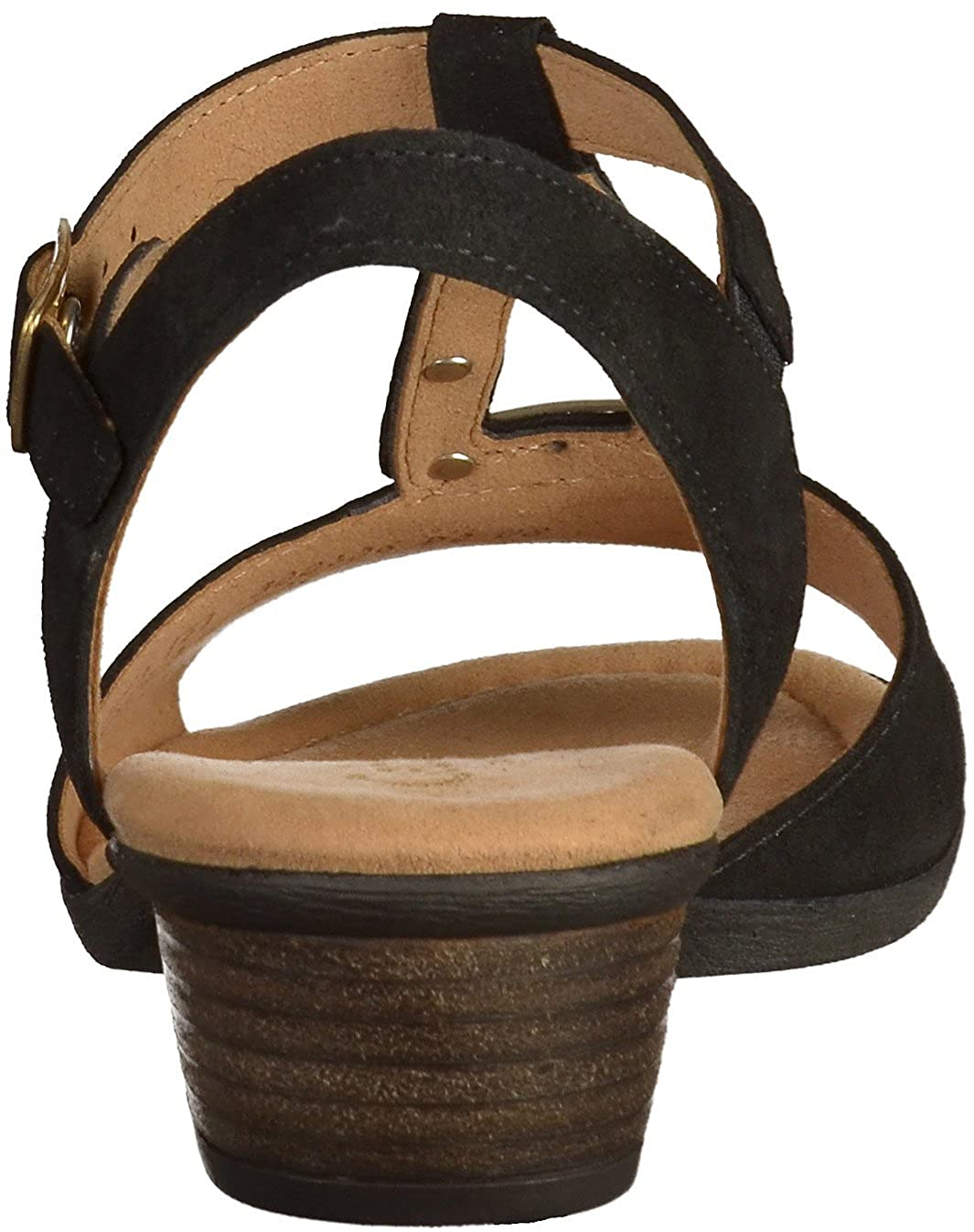 Gabor Comfort - Damen Sandaletten - Schwarz Schuhe in in Schuhe Übergrößen Schwarz (Gold) bfdec5