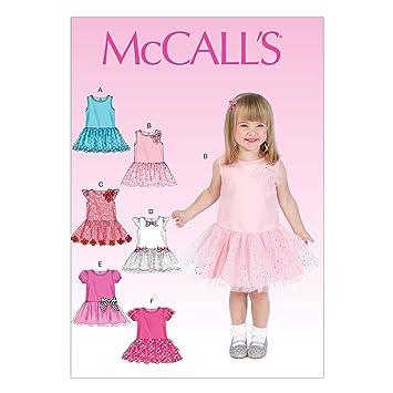 McCalls Patrones de Costura para MC7073 CB tamaños 1/2/3 Infantil es/