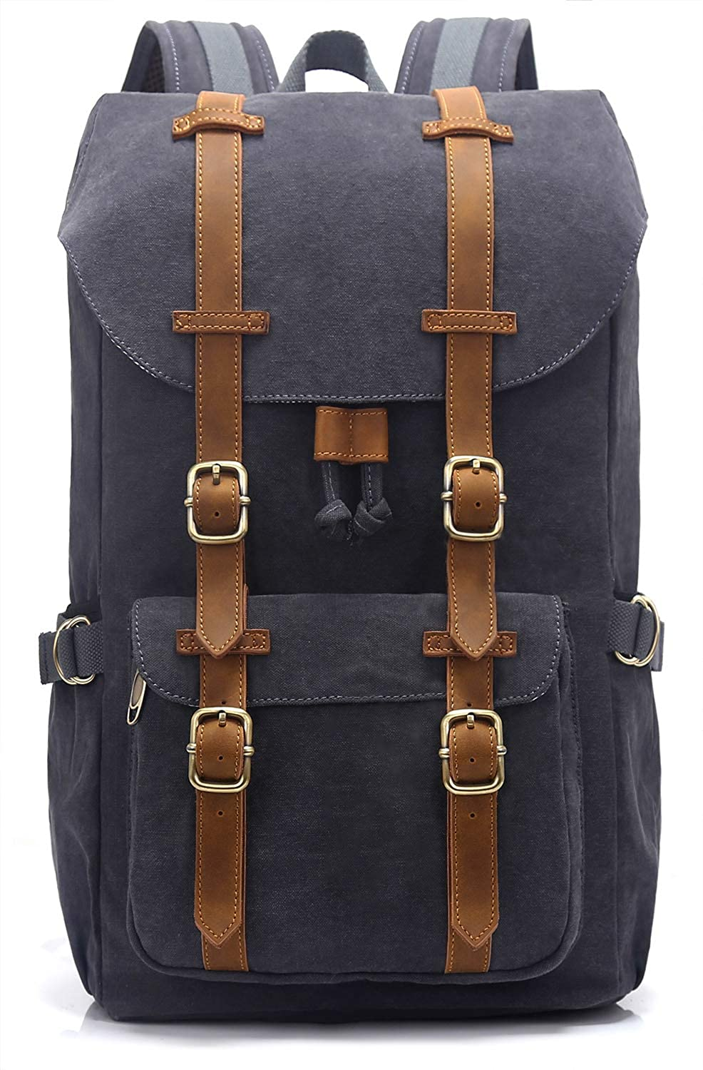 EverVanz Canvas Backpack for Travel Hiking Casual School Daypack Fits 15