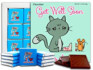 Get Well Soon Chocolate Gift Set, 5x5in, 1 box (Cat 0641)