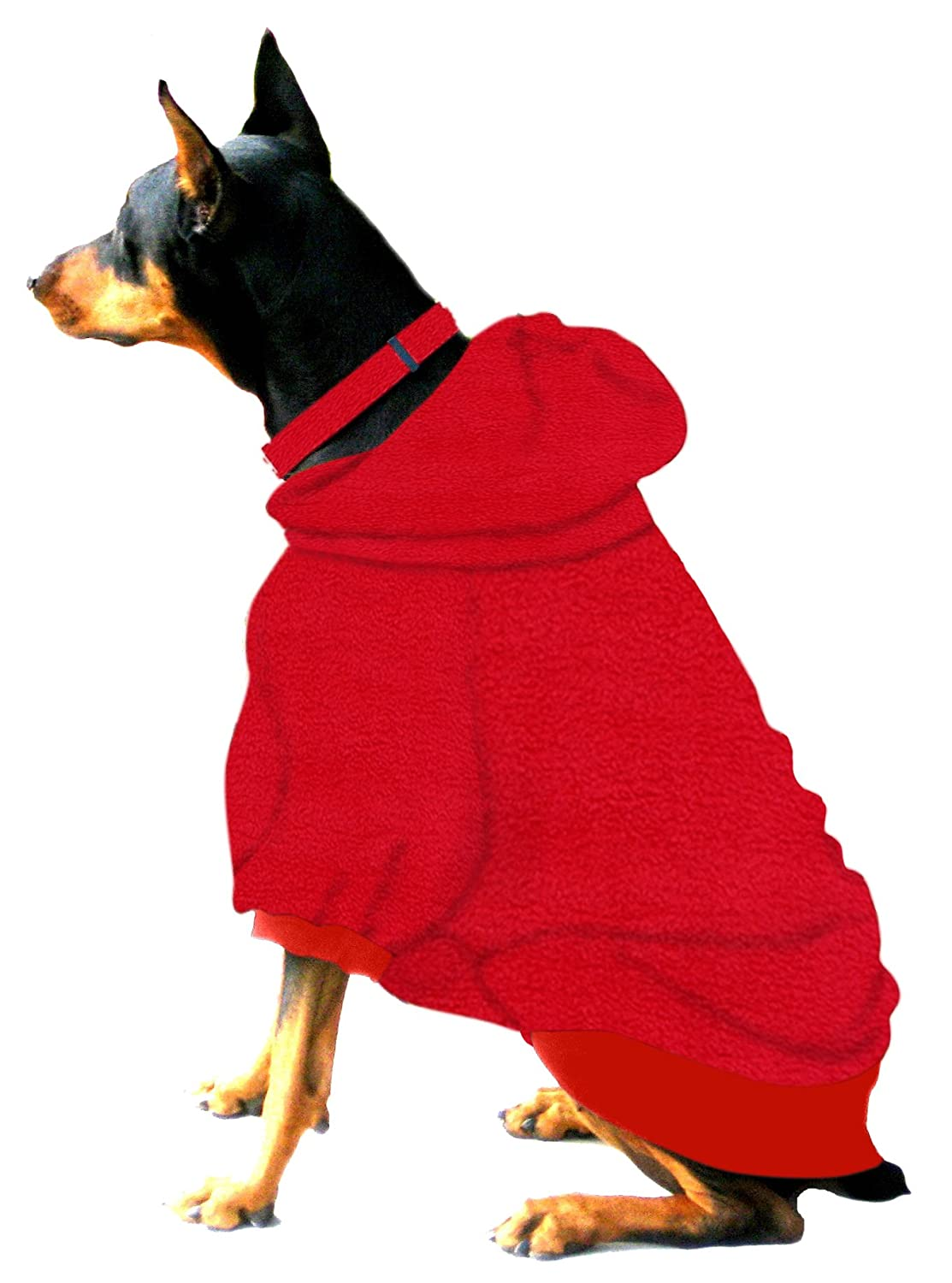 Boxer Doberman Dog Sweatshirt for Large Dog (60 to 90 Pounds) Red