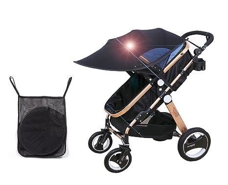 Cochecito Sun Shade cubierta de protección UV, Blackout ...