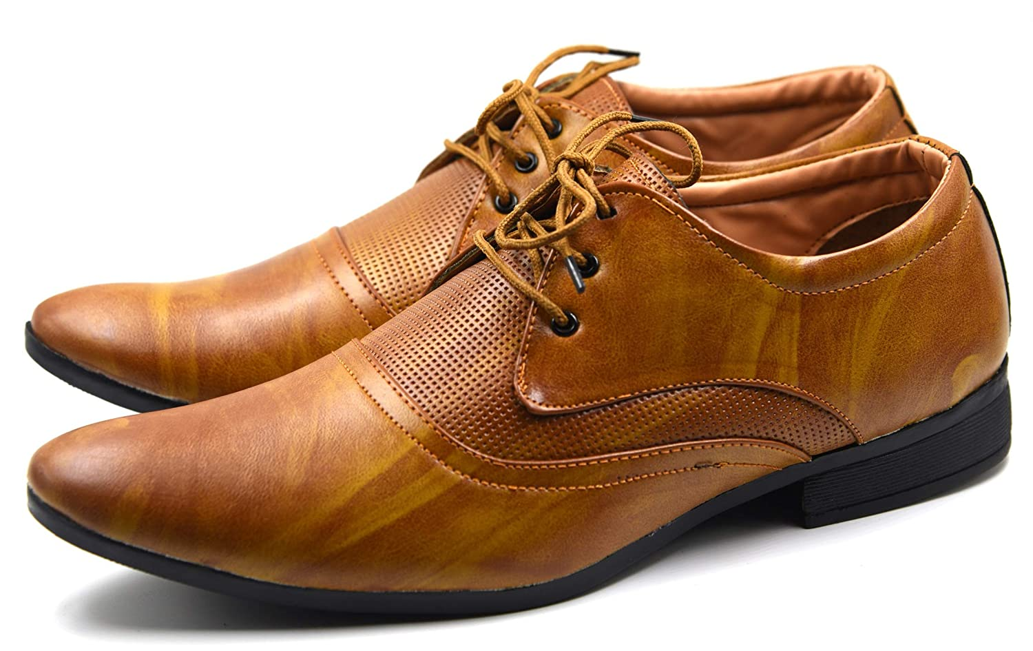 Buy DE LOYON Brown Synthetic Leather Derby Shoes for Men at Amazon.in