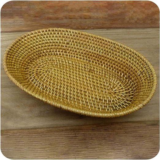 Panera, Burma de ratán, frutero Pan Cesta decorativa UNIKATE mano ...