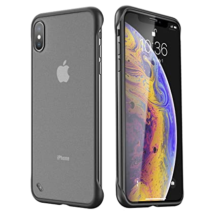 ANDMO Super Thin iPhone X Case/iPhone Xs Case, Hybrid Hard Plastic Matte Finish Slim iPhone Mobile Cover & Frameless Slim Fit Phone Case for iPhone ...