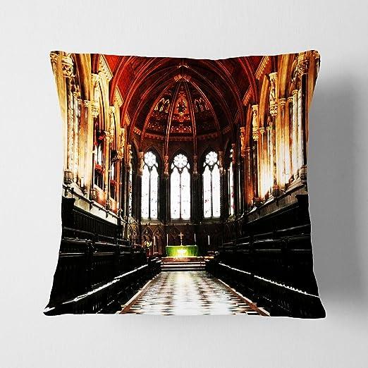 Big Box Art Arquitectura Iglesia Cambridge Gris con cojín ...