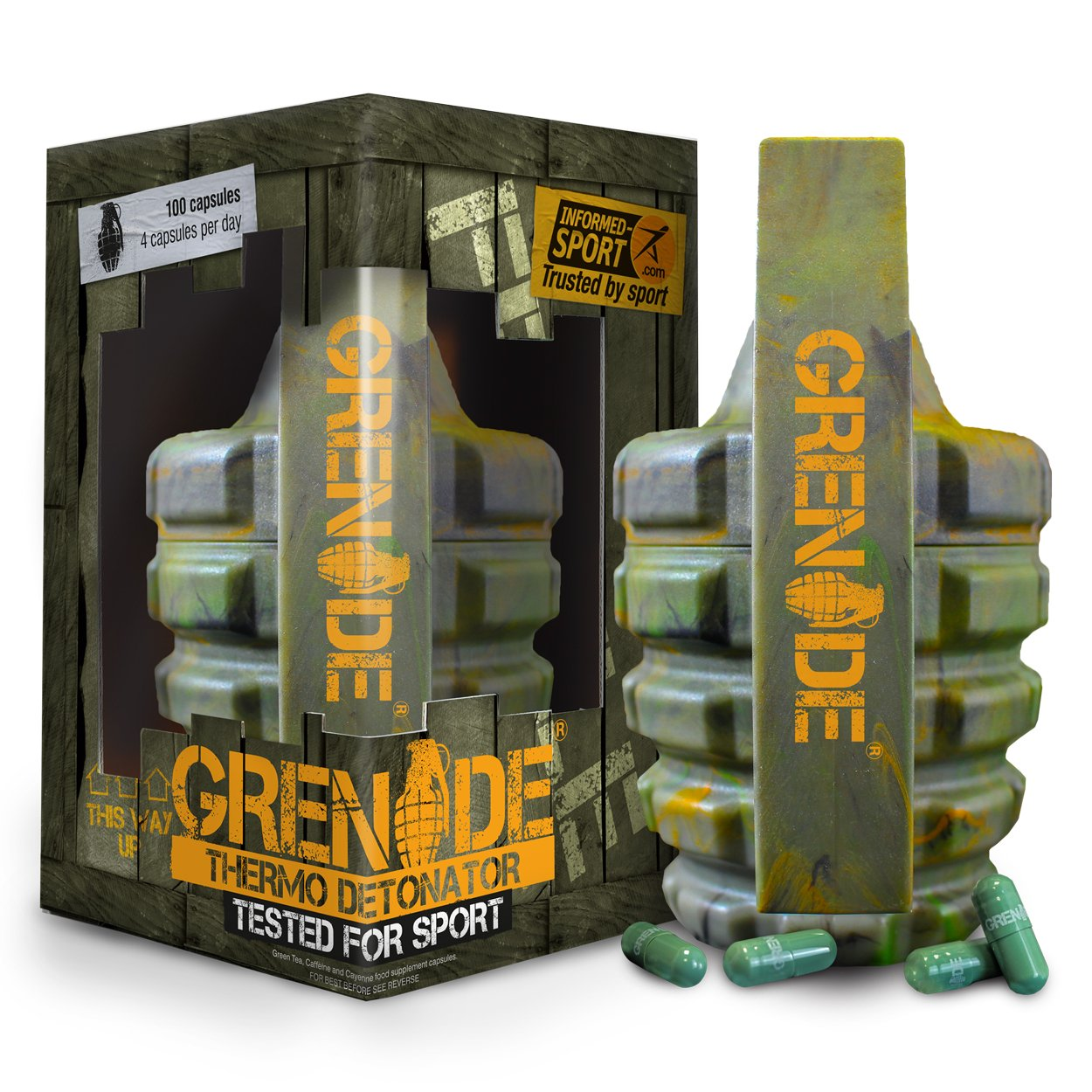 Grenade Fat Burner 100 caps (Informed Sports version) by Grenade (Image #2)