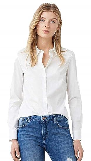 MIZAGO Women's Casual Solid White Shirt Shirts