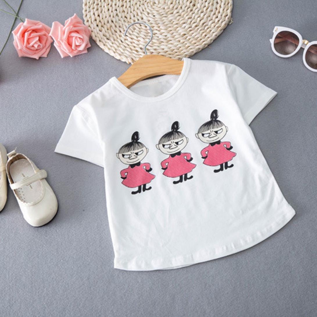 VESNIBA Baby Girls Clothing Printing Short Sleeve T-Shirt+Jeans Skirt Set Outfits