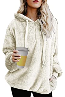 leslady donna felpa con cappuccio invernale in velluto pile