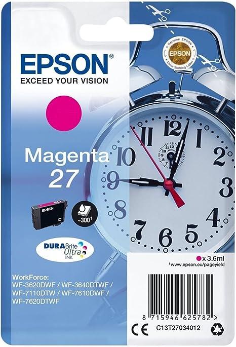 Epson Alarm Clock 27 T2703, Cartucho de Tinta para Impresora de ...