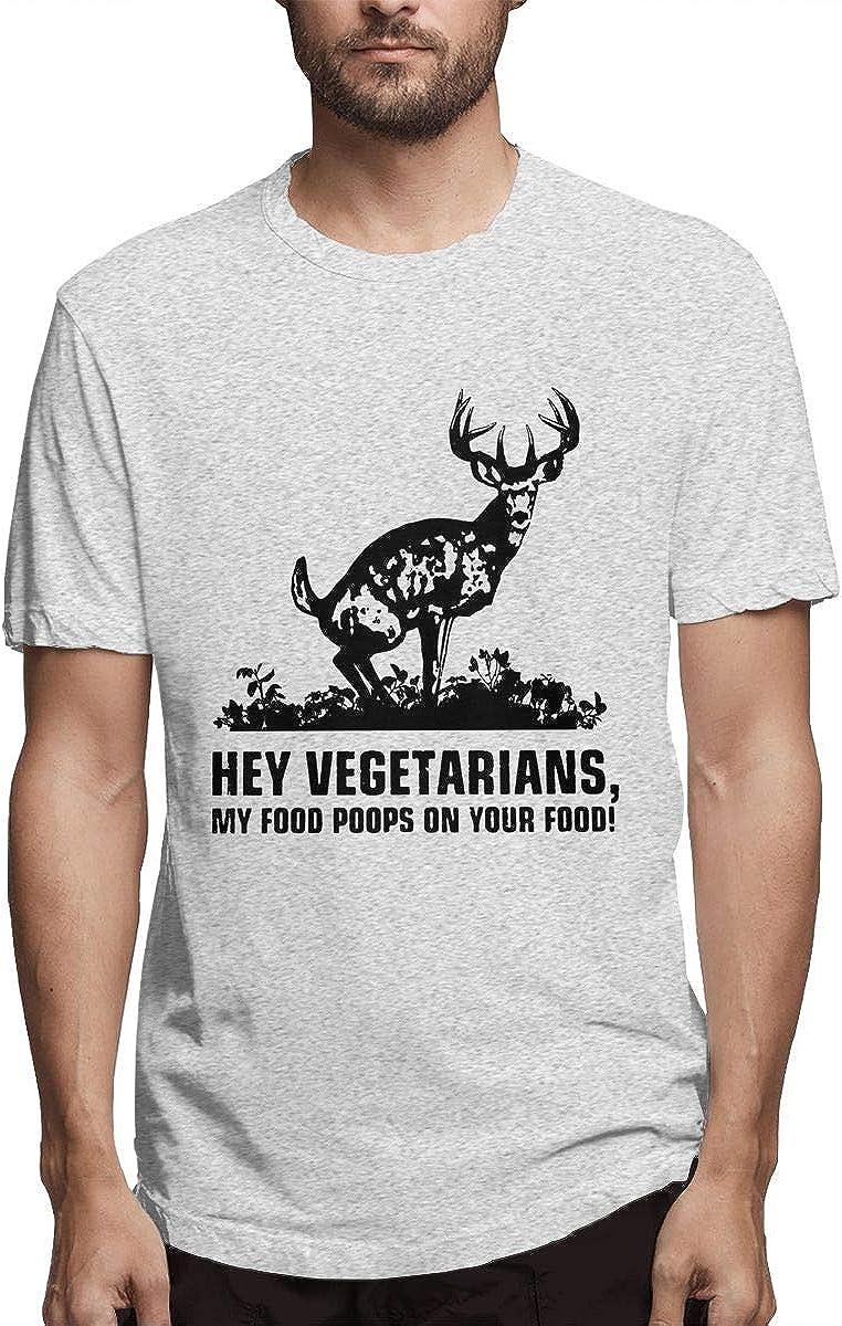 Hey Vegetarians My Food Poops On Your Food Men's Short Sleeve T-Shirt