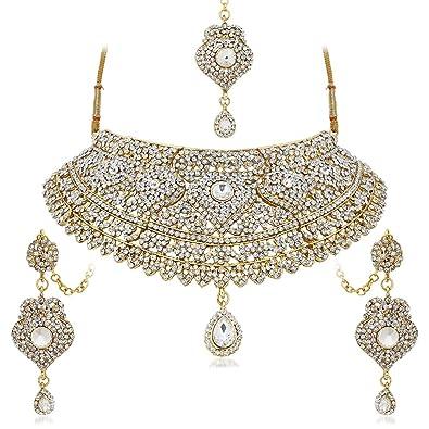 Buy Apara Collection Bridal Choker Necklace With Austrian Diamond
