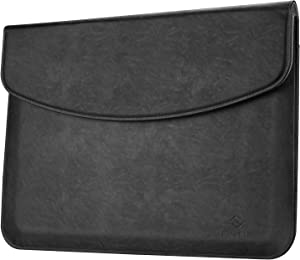 Fintie Laptop Sleeve Case for New MacBook Air 13 (A2179 / A1932) / MacBook Pro 13 (2016-2020 Release) / Surface Pro X/Pro 7/Pro 6/Pro 5/Pro 4 - Carrying Bag with Stylus Loop & Card Pocket, Black