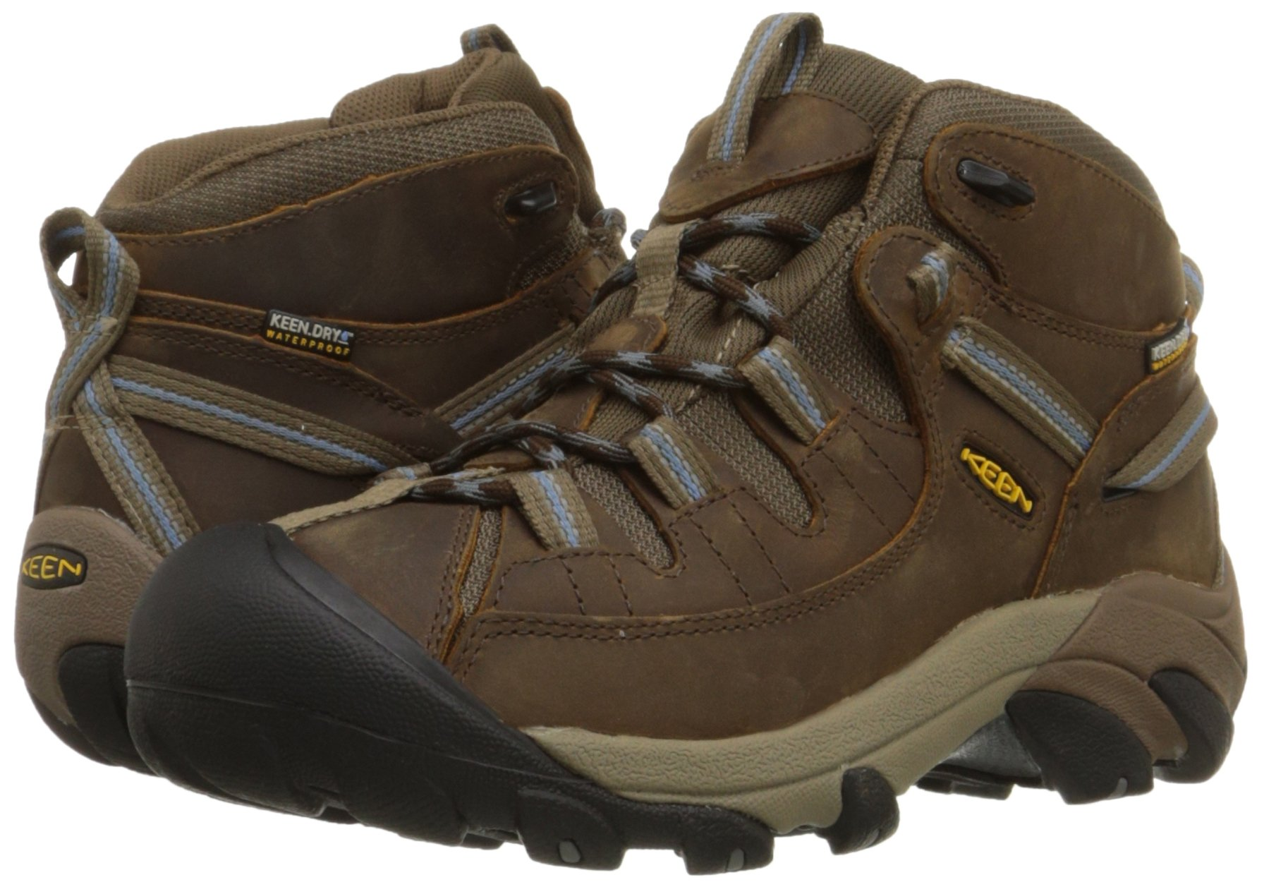 KEEN Women's Targhee II Mid Waterproof Hiking Boot,Slate Black/Flint Stone,8.5 M US by KEEN (Image #6)
