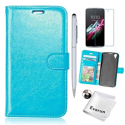 buy online 06653 97d51 Alcatel C9 Case, Alcatel One Touch Pop C9 Case, Everun [Stand Feature] Case  Wallet [3 Card Slots] Premium Wallet Case Flip Cover for Alcatel One Touch  ...