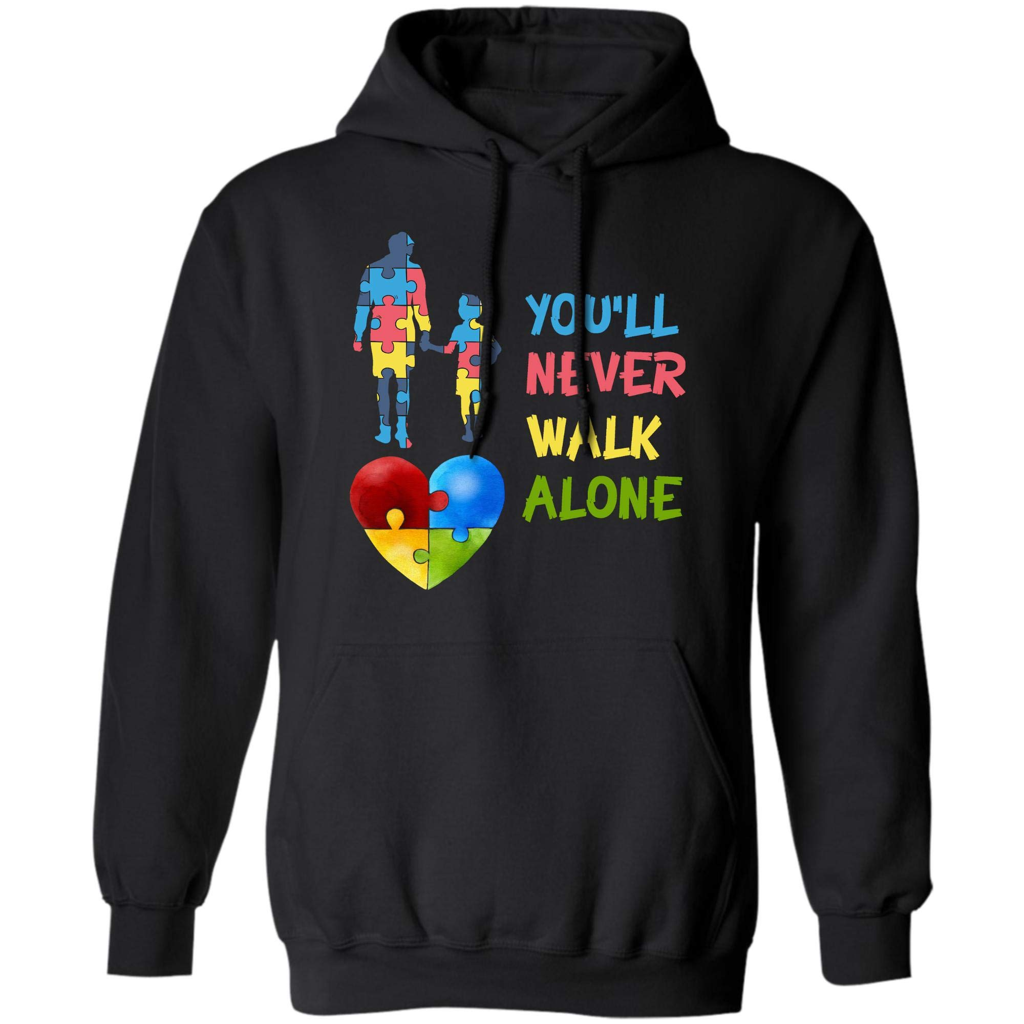 You Ll Never Walk Alone Shirt Puzzle Pieces Autism Awareness Gifts 8592