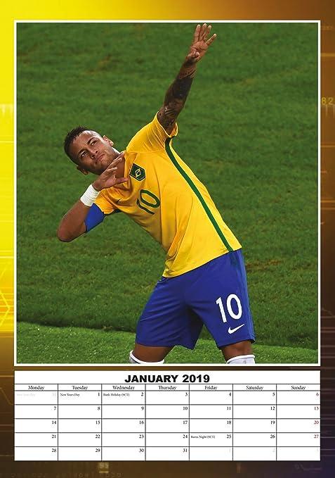 2019 Soccer Calendar Amazon.com: Neymar da Silva Sontos Jr Soccer Poster Calendar 2019