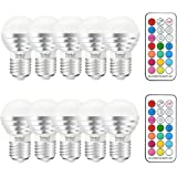 Yangcsl 3W Timing Remote Controller RGBW Color Changing LED Light Bulbs , Double Memory and Wall Switch Control,Daylight White and Color Ambiance Extension (Pack of 10)