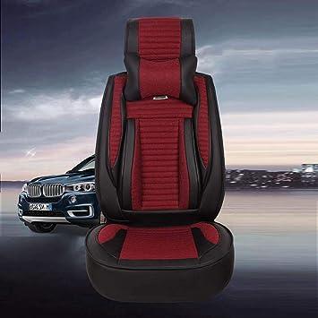Cubierta del asiento de coche Ropa de cama Cuero de la PU Deportes Cuatro estaciones General Transpirable Cómodo Suministros de automoción , Black Red: ...