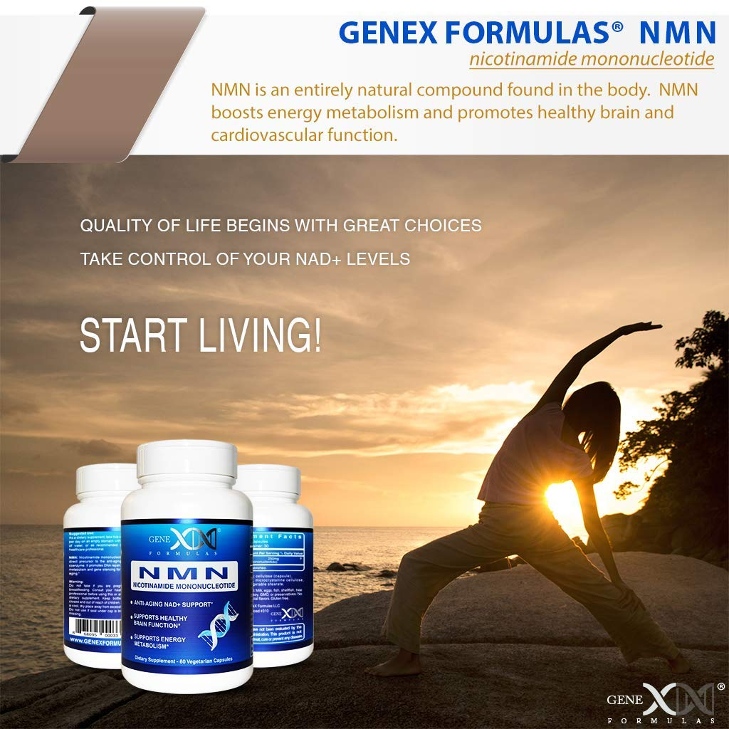 NMN 250mg Serving 3Pack Nicotinamide Mononucleotide Direct NAD+ Supplement, Anti Aging DNA Repair & Healthy Metabolism (2X 125mg caps 60 ct per Bottle) by Genex Formulas (Image #8)