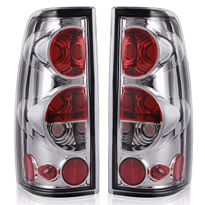 Taillights Tail Lamps Compatible with Chevy Chevrolet Silverado 1500 2500 3500 1999-2006 & 2007 with Classic Body Style GMC Sierra 1500 2500 3500 1999-2002 (Do Not Fit Barn Door/Stepside Models): Automotive [5Bkhe0906365]