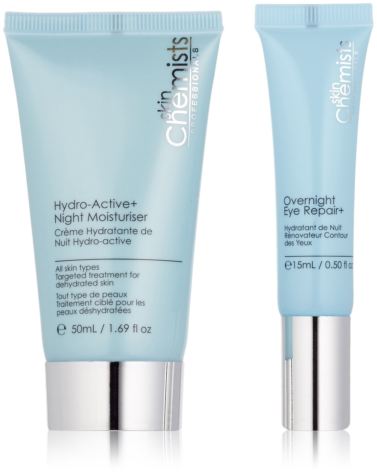 skinchemists Advanced Overnight Eye Repair and Hydro-Active Night Moisturiser, 40 Gram