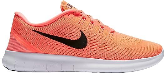 Nike Women's Free RN Running Shoes (Bright Mango/Black, ...