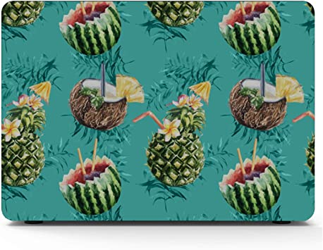 MacBook Air 13 Case Summer Sweet Cool Fruit Watermelon Plastic Hard Shell Compatible Mac Air 11 Pro 13 15 Laptop Cover Protection for MacBook 2016-2019 Version