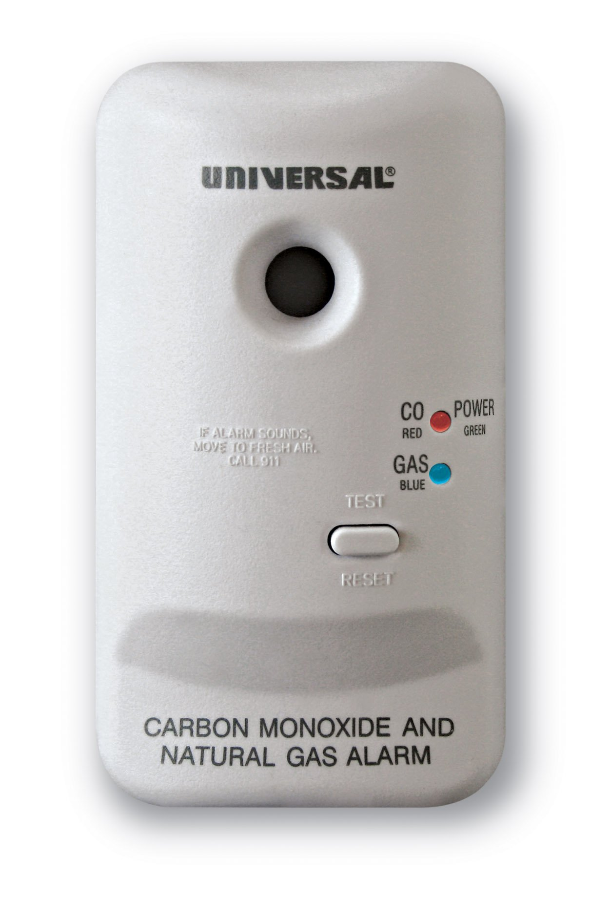 Universal Security Instruments M Series Plug-In Carbon Monoxide and Natural Gas Alarm with 9-Volt Battery Backup, Model MCN400B by Universal Security Instruments