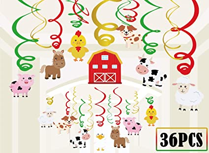16pcs Spiral Ornaments Creative Party Supplies Swirls Hanging Party Ornament