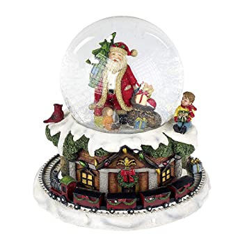 Spieluhr Weihnachten.Formano 790330 Schneekugel Spieluhr Weihnachtszeit 16 Cm Bunt Nostagische Spieluhren Weihnachten Musik