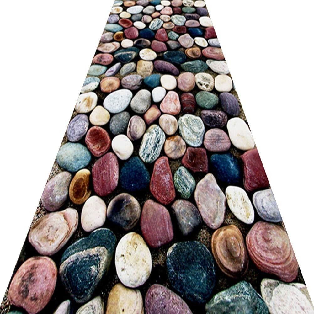 KKCF 廊下のカーペット模造石道消えない切れるエントランスカーペット 、複数のサイズ (色 : A, サイズ さいず : 0.6x6m) B07SBPXYPY A 0.6x6m