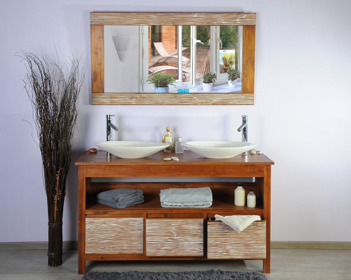 saniteck france salle de bain en teck 140newsavanah amazonfr cuisine maison