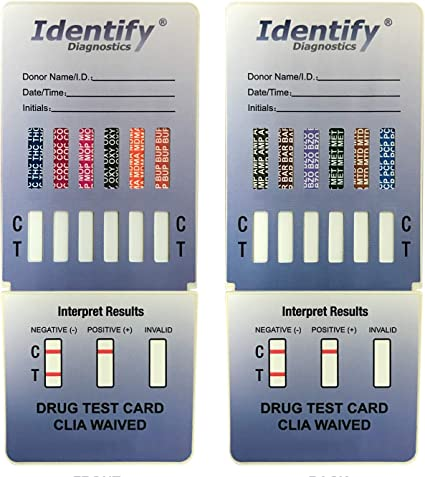 Amazon Com 10 Pack Identify Diagnostics 12 Panel Drug Test Dip Testing Instantly For 12 Different Drugs Thc Coc Mop Oxy Mdma Bup Amp Bar Bzo Met Mtd Pcp Id Cp12 Dip 10 Health