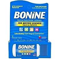 Bonine TRAVEL PACKET DISPENSER 12 Chewable Raspberyy Tablets Traveling Packet (1)