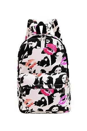 Mochila respirable casual, mochila de senderismo de moda mochila Mochilas escolares unisex ultraligeras Mochilas impresas de lona para hombre y mujer ...