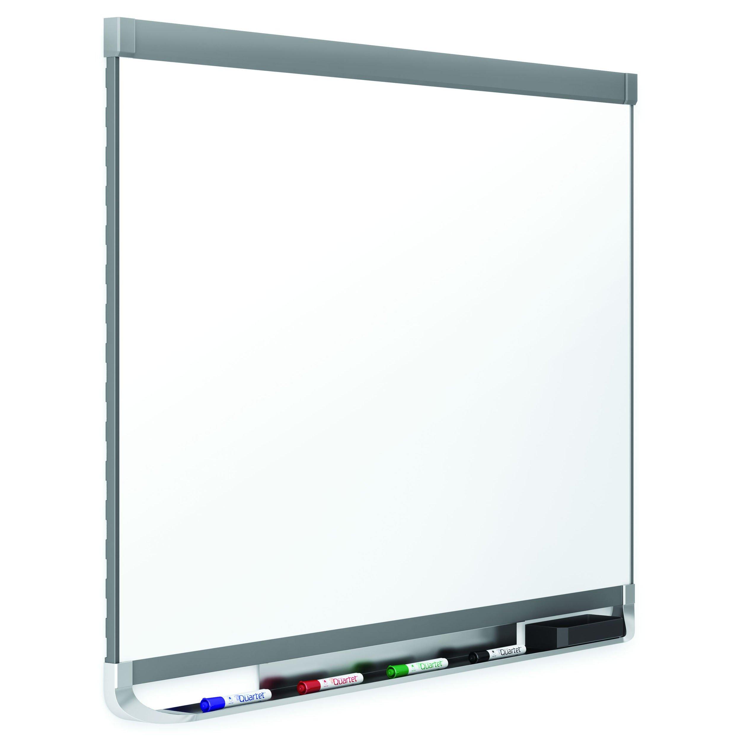 Quartet Prestige 2 DuraMax Porcelain Magnetic Whiteboard, 6 x 4 Feet, Graphite Finish Frame (P557GP2)