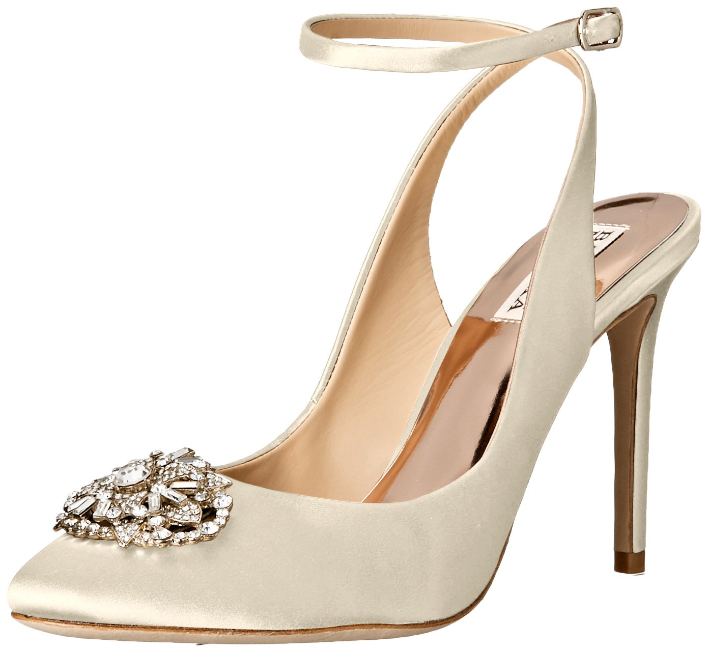 Badgley Mischka Women's Darwyn Dress Pump B01DVBU2QQ 6.5 B(M) US|Ivory