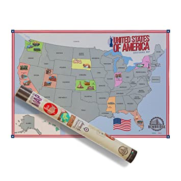 scratchable Map USA | Karte der Vereinigten Staaten von Amerika ...