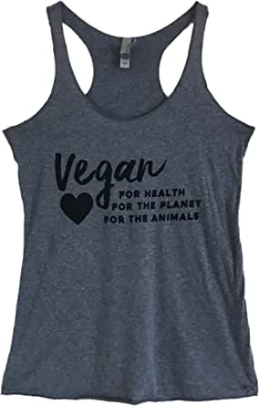 The Bold Banana Women's Vegan for Health Planet and Animals Tank Top