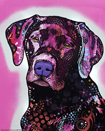 8 x 8 art prints amazoncom black lab by dean russo art print 8 x 10 inches