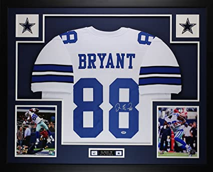 1523d65f4 Dez Bryant Autographed White Cowboys Jersey - Beautifully Matted and Framed  - Hand Signed By Dez