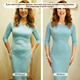 SHAPERX Women's Open Bust Bodysuit Seamless Firm