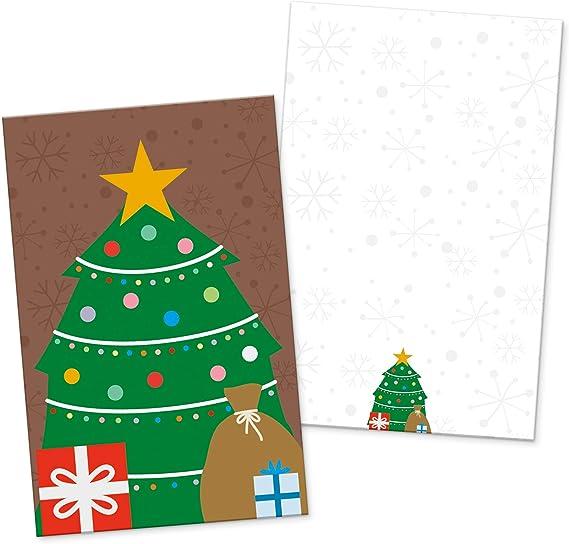 itenga 24 x Geschenkkarten Weihnachtsbande Visitenkartengröße Weihnachten