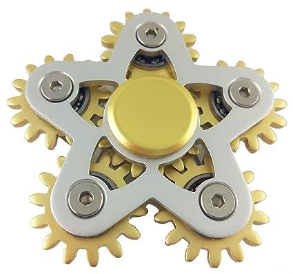 Pozostałe 4 Gear Spinner Hand Fidget Spinner Finger Desk Gyro Focus Alloy Bearing Black Zabawki
